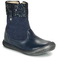 Topánky Dievčatá Polokozačky GBB ORANTO Námornícka modrá