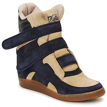 Topánky Ženy Členkové tenisky Buffalo GINGERWA Námornícka modrá / Béžová