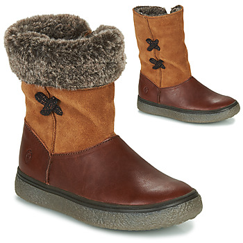 Topánky Dievčatá Polokozačky GBB OLINETTE Hnedá
