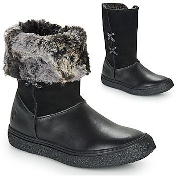 Topánky Dievčatá Polokozačky GBB OLINETTE Čierna