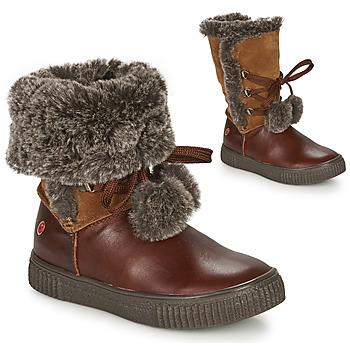 Topánky Dievčatá Polokozačky GBB NOUSTIK Hnedá