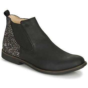 Topánky Dievčatá Polokozačky GBB NAKOVO Čierna