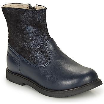 Topánky Dievčatá Polokozačky GBB OSHINO Modrá