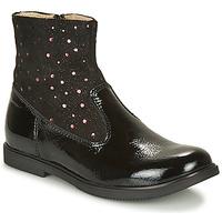 Topánky Dievčatá Polokozačky GBB OSHINO Čierna