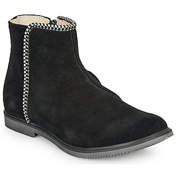 Topánky Dievčatá Polokozačky GBB OJIMA Čierna
