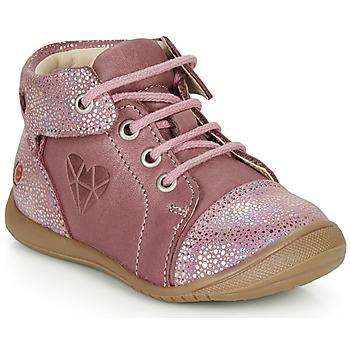 Topánky Dievčatá Polokozačky GBB ORENA Ružová
