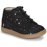 Topánky Dievčatá Polokozačky GBB NINON Čierna / Ružová