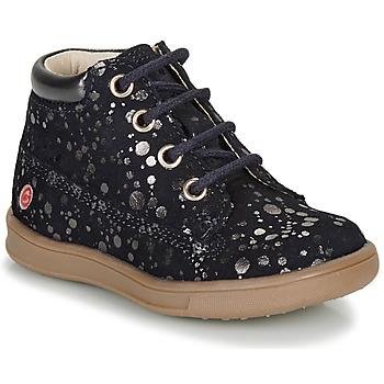 Topánky Dievčatá Polokozačky GBB NINON Námornícka modrá / Strieborná