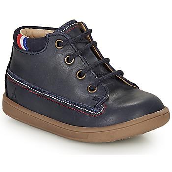 Topánky Dievčatá Polokozačky GBB FRANCETTE Námornícka modrá