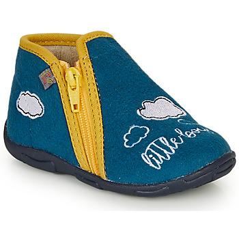 Topánky Chlapci Papuče GBB OUBIRO Modrá / Žltá