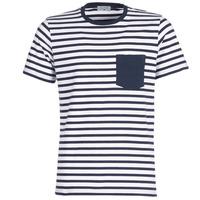 Oblečenie Muži Tričká s krátkym rukávom Casual Attitude KARALE Námornícka modrá / Biela
