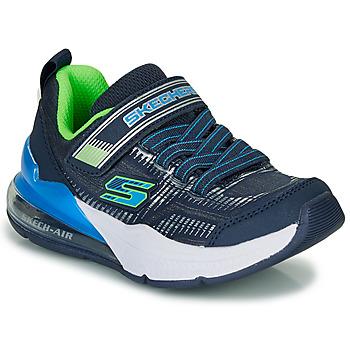Topánky Chlapci Nízke tenisky Skechers SKECHERS BOY Modrá / Zelená