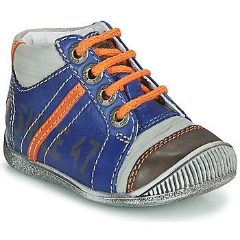 Topánky Chlapci Polokozačky GBB ISIS Modrá / Oranžová