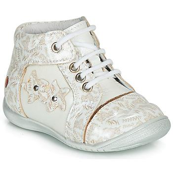 Topánky Dievčatá Polokozačky GBB MAE Biela