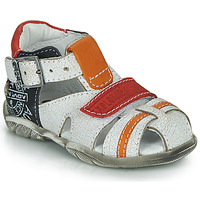 Topánky Chlapci Sandále GBB MELVIL Biela / Červená / Oranžová