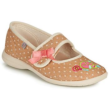 Topánky Dievčatá Papuče GBB MELINA Béžová