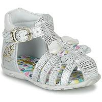Topánky Dievčatá Sandále Catimini CYGNE Strieborná