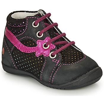 Topánky Dievčatá Polokozačky GBB NOEMIE Čierna