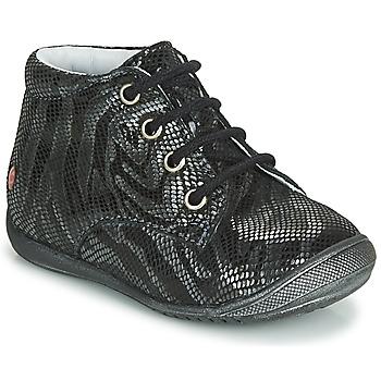 Topánky Dievčatá Polokozačky GBB NAOMI Čierna / Strieborná