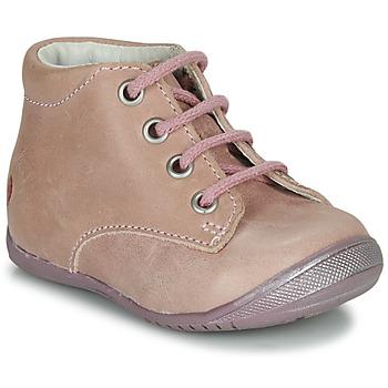 Topánky Dievčatá Polokozačky GBB NAOMI Ružová