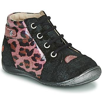 Topánky Dievčatá Polokozačky GBB NICOLE Čierna / Ružová