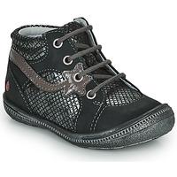 Topánky Dievčatá Polokozačky GBB NORA Čierna / Strieborná