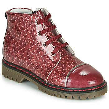 Topánky Dievčatá Polokozačky GBB NEVA Červená
