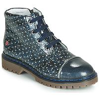 Topánky Dievčatá Polokozačky GBB NEVA Námornícka modrá