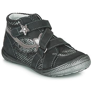 Topánky Dievčatá Polokozačky GBB NINA Čierna / Strieborná