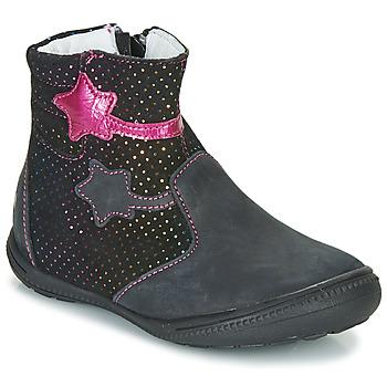 Topánky Dievčatá Polokozačky GBB NADIA Čierna / Ružová