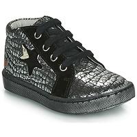 Topánky Dievčatá Členkové tenisky GBB LETO Čierna / Strieborná
