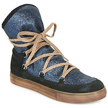 Topánky Dievčatá Čižmy do mesta Achile ANGELA Modrá / Čierna