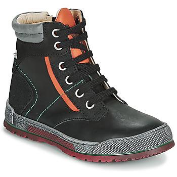 Topánky Chlapci Polokozačky Achile MANUEL Čierna / Oranžová