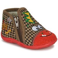 Topánky Chlapci Papuče GBB NEREO Červená / Hnedá