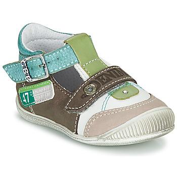 Topánky Chlapci Sandále GBB PAUL Hnedá / Zelená / Modrá