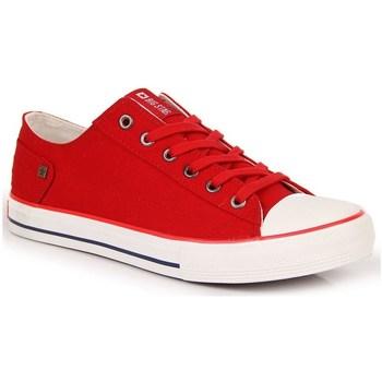 Topánky Ženy Nízke tenisky Big Star INT1092B Biela,Červená