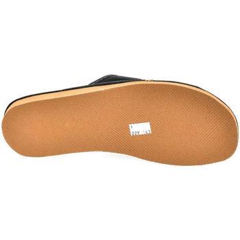 Topánky Muži Papuče John-C Pánske sivočierne papuče VIPMEN čierna
