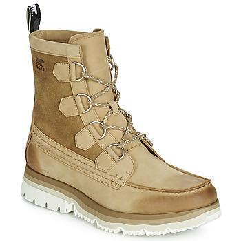 Topánky Muži Polokozačky Sorel ATLIS CARIBOU WATERPROOF Ťavia hnedá