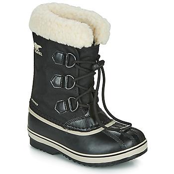 Topánky Deti Obuv do snehu Sorel YOOT PAC NYLON Čierna
