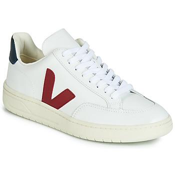 Topánky Nízke tenisky Veja V-12 LEATHER Biela / Modrá / Červená