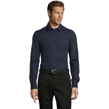 Oblečenie Muži Košele s dlhým rukávom Sols BLAKE MODERN MEN Azul