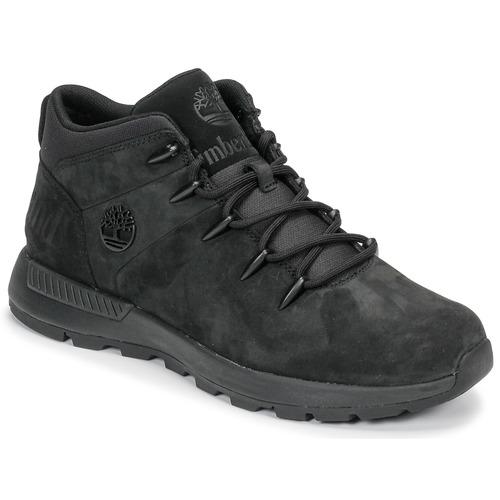 Topánky Muži Polokozačky Timberland EURO SPRINT TREKKER Čierna