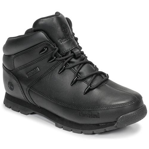 Topánky Deti Polokozačky Timberland EURO SPRINT Čierna
