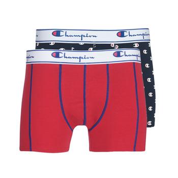 Spodná bielizeň Muži Boxerky Champion MIX UNI + IMPRIME X2 Čierna / Červená