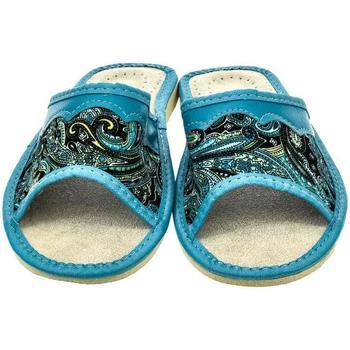 Topánky Ženy Šľapky John-C Dámske tyrkysové papuče GAJA svetlomodrá