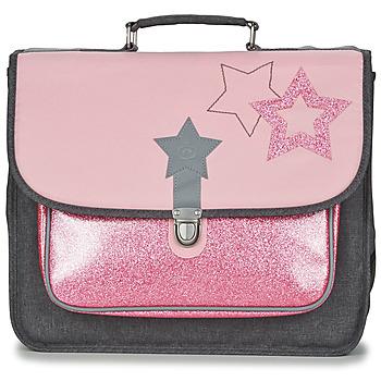 Tašky Dievčatá Školské tašky a aktovky Citrouille et Compagnie SCUOLA 38 CM Ružová / Šedá