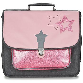 Tašky Dievčatá Školské tašky a aktovky Citrouille et Compagnie SCUOLA 41 CM Ružová / Šedá