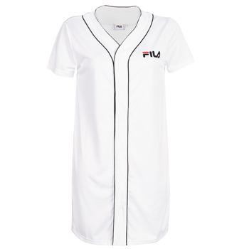 Oblečenie Ženy Krátke šaty Fila WOMEN ROBIN button baseball dr Biela