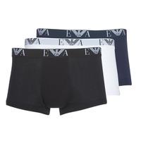 Spodná bielizeň Muži Boxerky Emporio Armani CC715-111357-56110 Biela / Čierna / Námornícka modrá