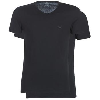 Oblečenie Muži Tričká s krátkym rukávom Emporio Armani CC722-111648-07320 Čierna